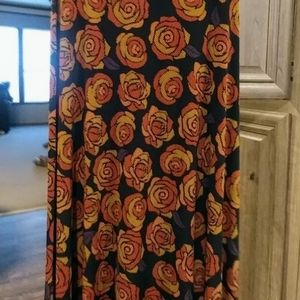 LuLaRoe Maxi skirt Disney Rose Graphics